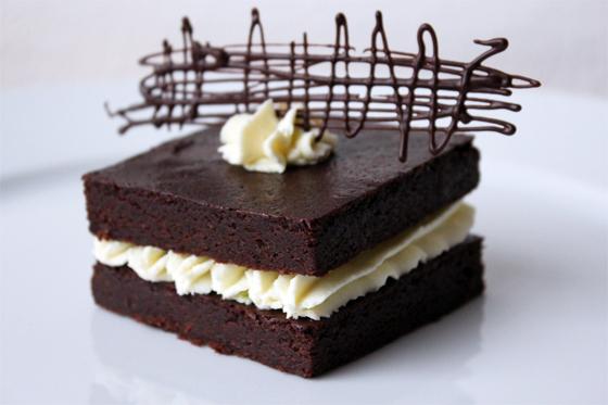 Chokoladekage med limecreme