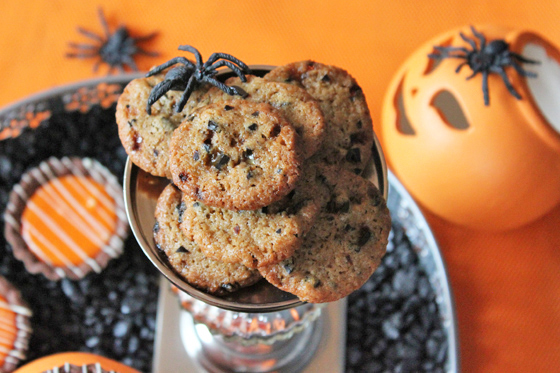 Halloween mini cookies med heksehyl