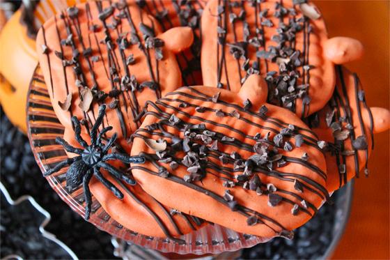 Halloween græskar-marengs