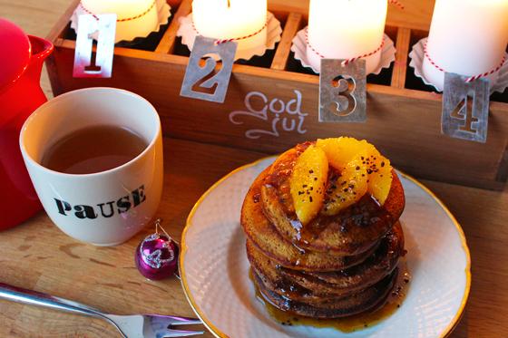 Pandekager med lakrids og appelsin