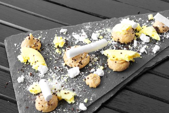 Påskedessert med citron og lakrids