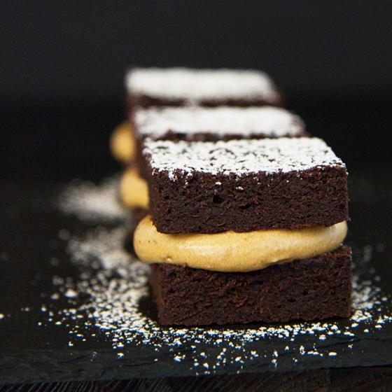 Chokoladekage med lakridskaramelcreme
