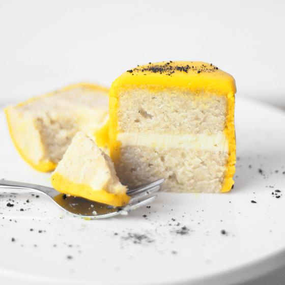 Mini påskekager med citron, marcipan, chokoladeganache og lakrids