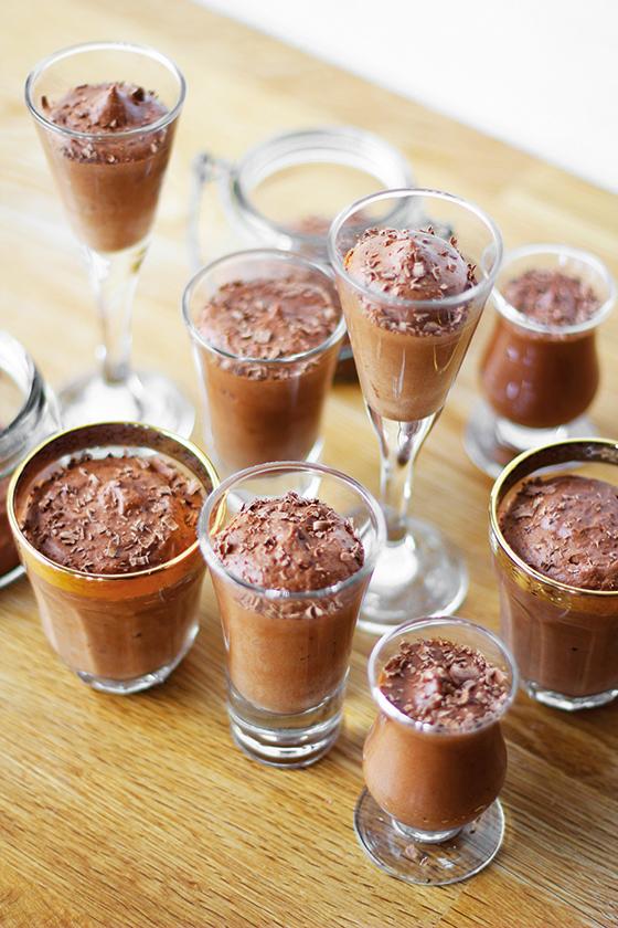 Chokolademousse med rom