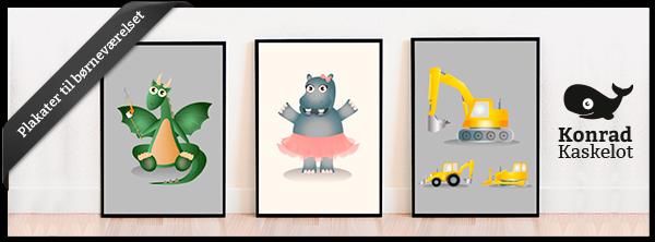 Konrad Kaskelot - plakater til børneværelset